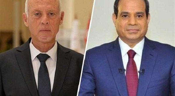 السيسي يرحب بنظيره التونسي ويؤكد الروابط التاريخية بين البلدين