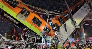 مقتل 23 شخص وإصابة العشرات إثر انهيار جسر لحظة مرور قطار بمكسيكو سيتي