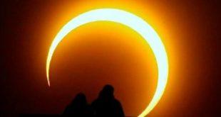 كسوف حلقى للشمس ولا يرى فى مصر