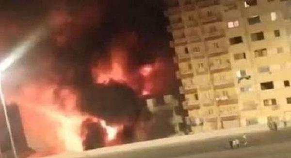 تفاصيل حريق عقار دائري المريوطية